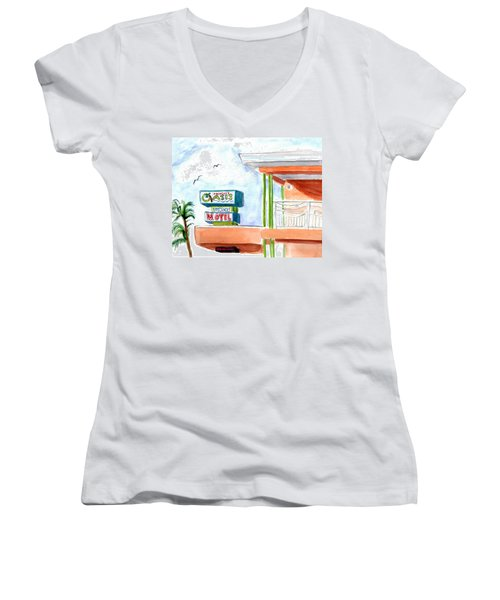 Oasis Women's V-Neck T-Shirt (Junior Cut)