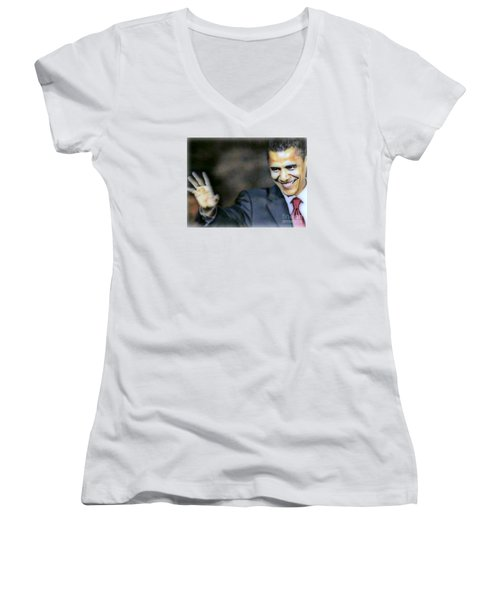 Obama Women's V-Neck T-Shirt
