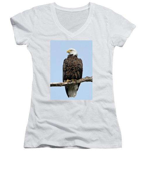 Observant Sentry Women's V-Neck T-Shirt