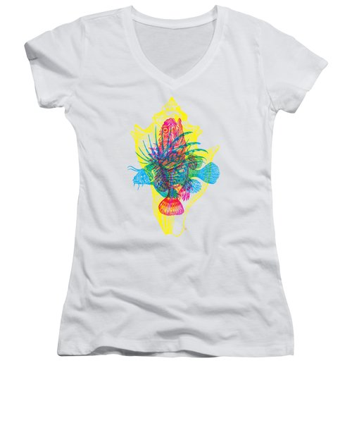 Ocean Creatures Women's V-Neck (Athletic Fit)