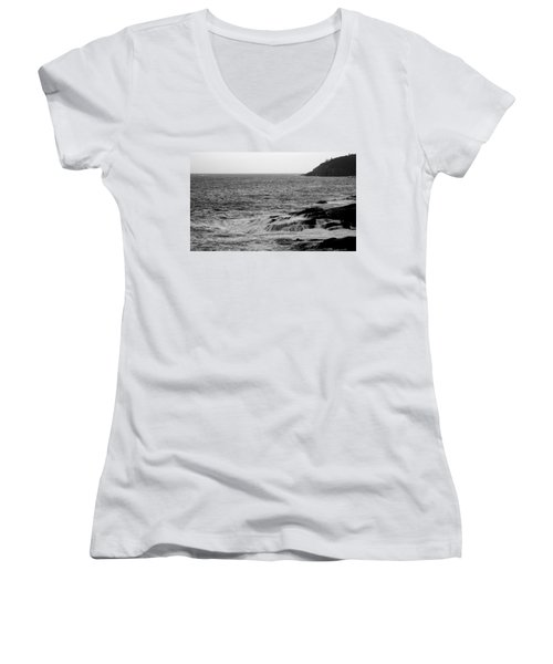 Women's V-Neck T-Shirt (Junior Cut) featuring the photograph Ocean Drive by Greg DeBeck