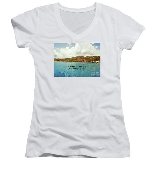 Ocho Rios Jamaica Women's V-Neck T-Shirt