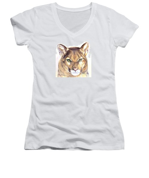 October Lion Women's V-Neck