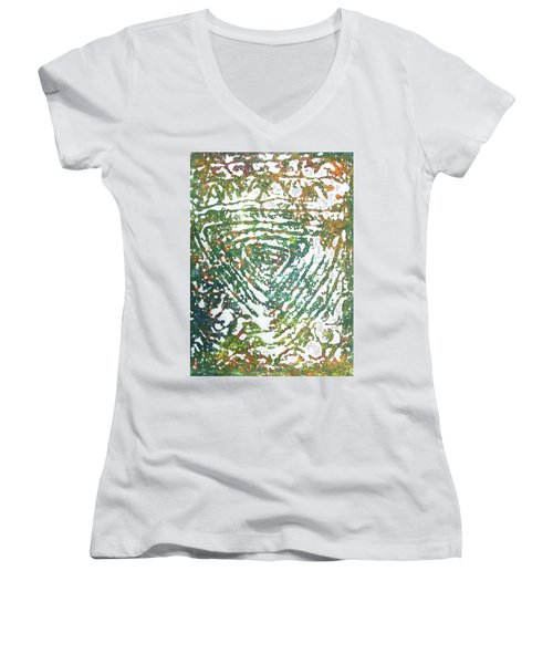 17-offspring While I Was On The Path To Perfection 17 Women's V-Neck (Athletic Fit)