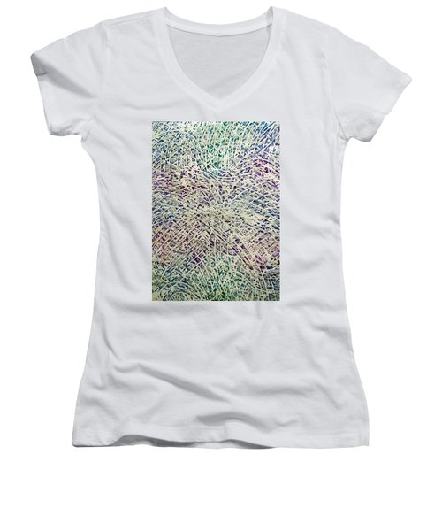34-offspring While I Was On The Path To Perfection 34 Women's V-Neck (Athletic Fit)