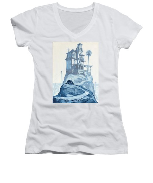 Oil Fields And Orchards Women's V-Neck