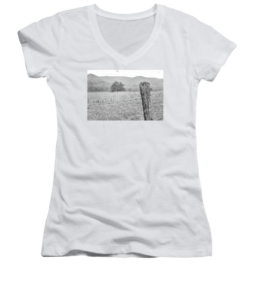 Old Fence Post Women's V-Neck (Athletic Fit)