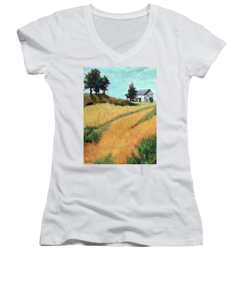 Old House On The Hill Women's V-Neck (Athletic Fit)
