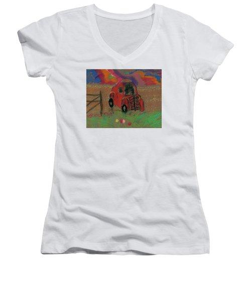 Old Jalopy Women's V-Neck T-Shirt