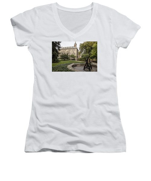 Old Main Penn State Bell  Women's V-Neck