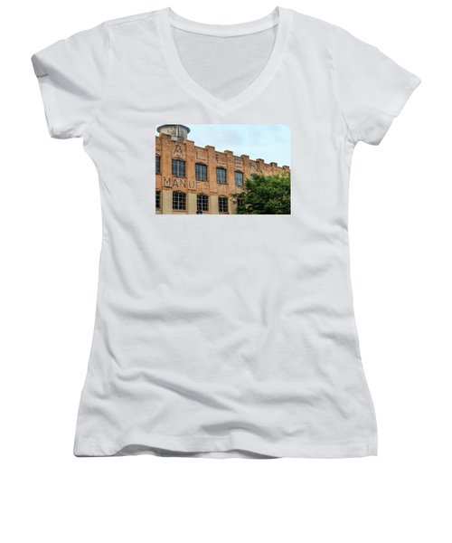 Old Mill Building In Buford Women's V-Neck