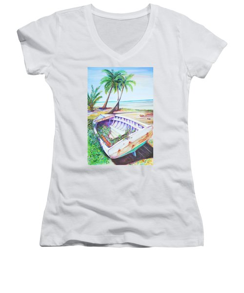 Old Paint Women's V-Neck (Athletic Fit)