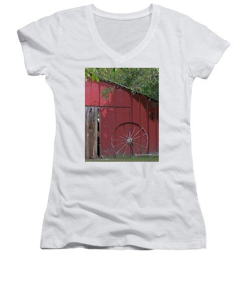 Old Red Barn Women's V-Neck