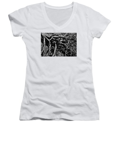 Women's V-Neck featuring the photograph Old Sagebrush by Ron Cline