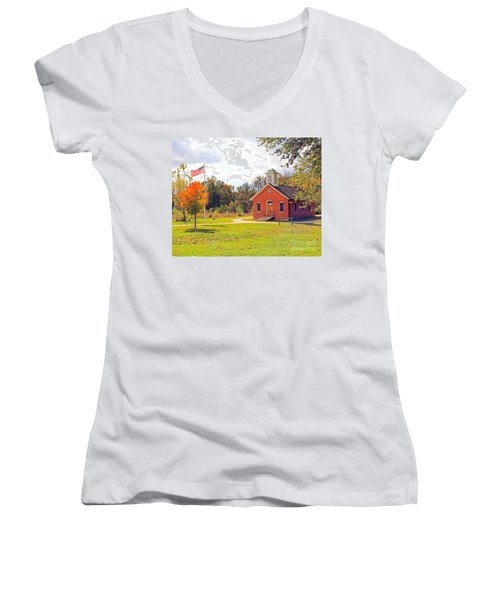 Old Schoolhouse-wildwood Park Women's V-Neck T-Shirt