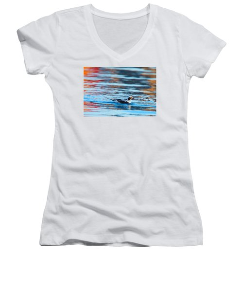 Old Squaw At Dawn Women's V-Neck