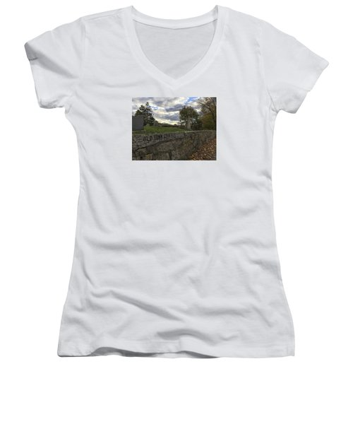 Old Town Cemetery Women's V-Neck (Athletic Fit)
