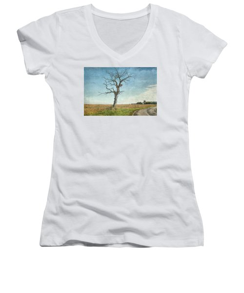 Old Tree  Women's V-Neck (Athletic Fit)