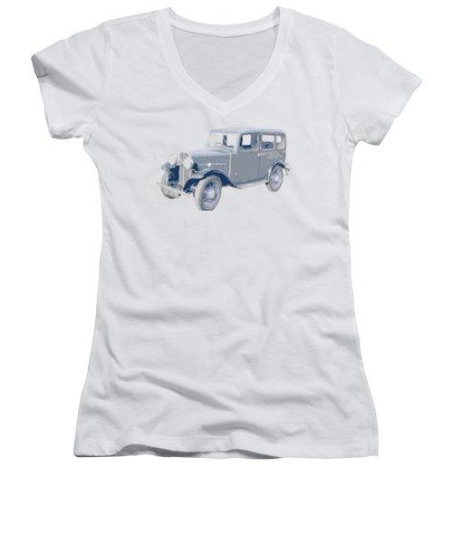 Oldtimer - Hatching Parallel Women's V-Neck T-Shirt