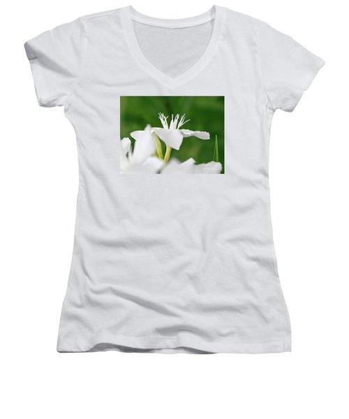 Oleander Ed Barr 1 Women's V-Neck T-Shirt (Junior Cut) by Wilhelm Hufnagl