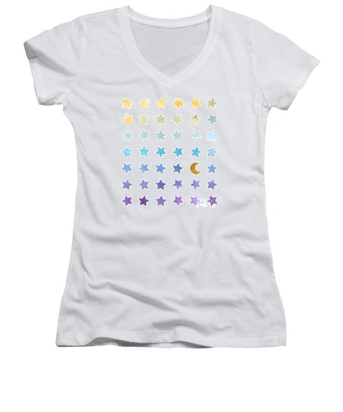 Ombre Cosmos Women's V-Neck (Athletic Fit)