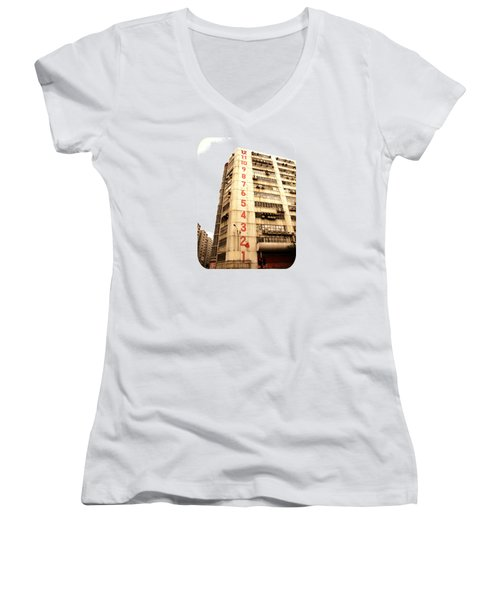 On A Dozen Different Levels Women's V-Neck T-Shirt (Junior Cut) by Ethna Gillespie