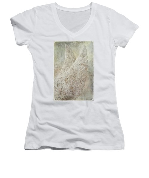On Angels Wings Women's V-Neck