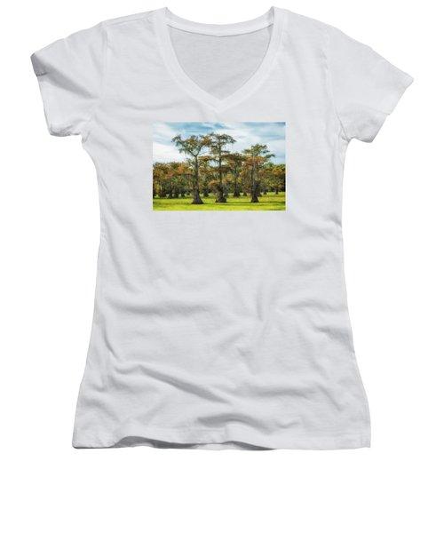 On Green Bayou Women's V-Neck T-Shirt
