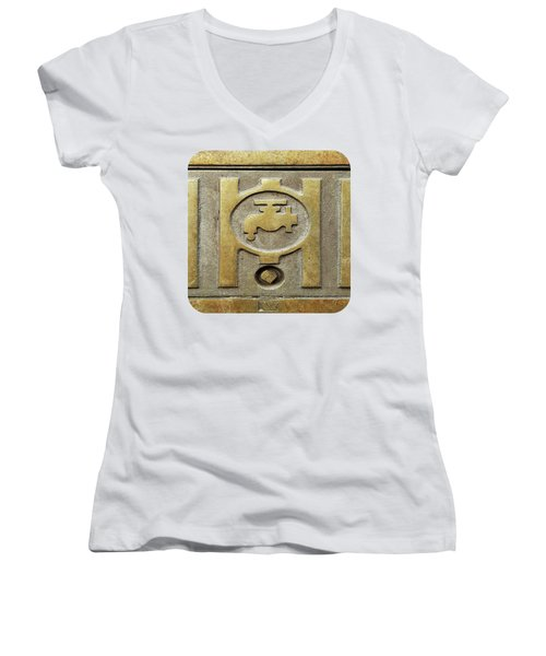 On Tap Women's V-Neck T-Shirt (Junior Cut) by Ethna Gillespie