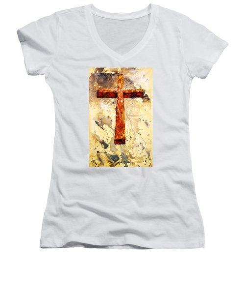 On That Old Rugged Cross Women's V-Neck