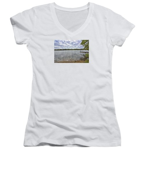 On The Banks Of The Potomac River Women's V-Neck (Athletic Fit)