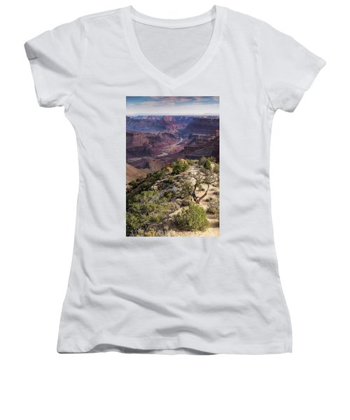 Looking Out The Front Door Women's V-Neck (Athletic Fit)