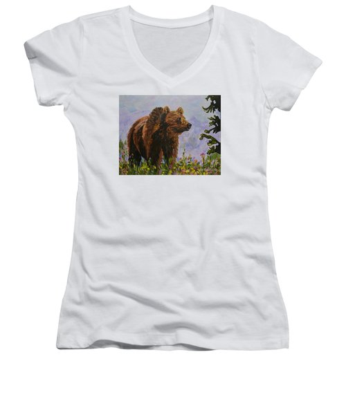 On The Prowl Women's V-Neck (Athletic Fit)