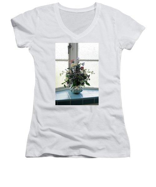 On The Window Women's V-Neck T-Shirt