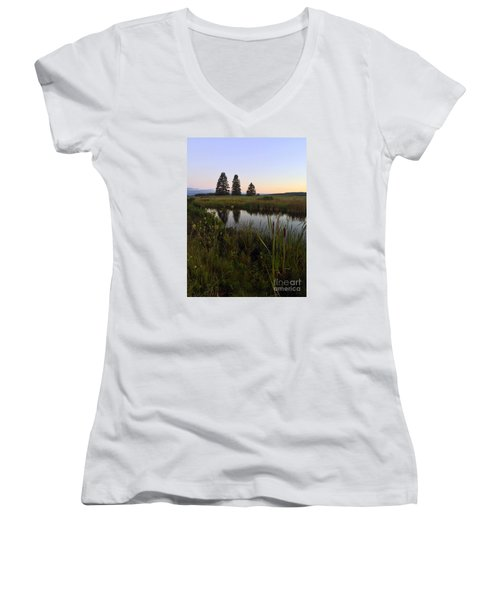 Once Upon A Time... Women's V-Neck T-Shirt (Junior Cut) by LeeAnn Kendall