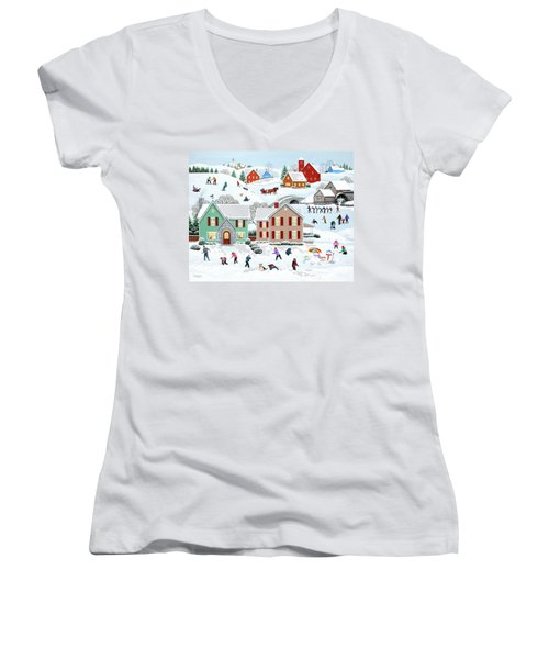 Once Upon A Winter Women's V-Neck (Athletic Fit)