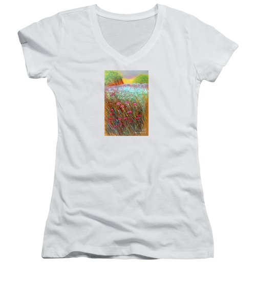 One Day In The Wild Women's V-Neck T-Shirt