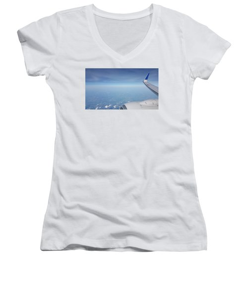 One Who Flies Women's V-Neck (Athletic Fit)
