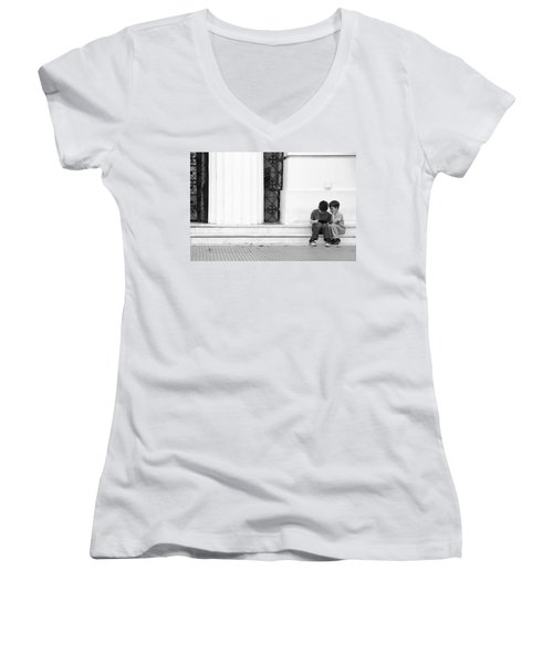 Online Women's V-Neck T-Shirt (Junior Cut) by Silvia Bruno