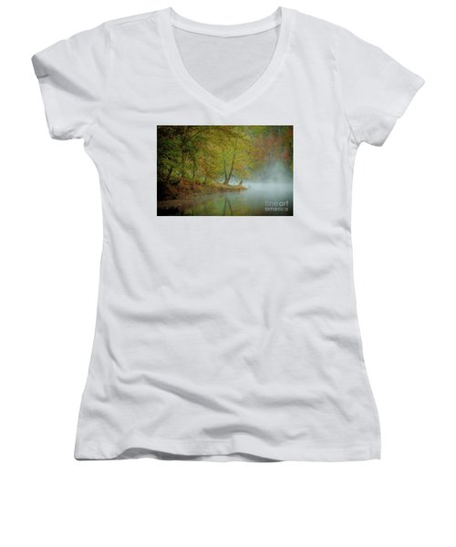 Only If I Go Women's V-Neck T-Shirt (Junior Cut) by Iris Greenwell