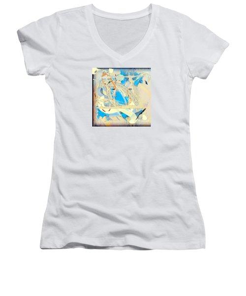 Only In A Dream Women's V-Neck T-Shirt (Junior Cut) by Gabrielle Schertz