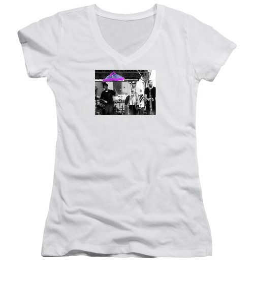 Only In Nola Women's V-Neck T-Shirt (Junior Cut) by Steve Archbold