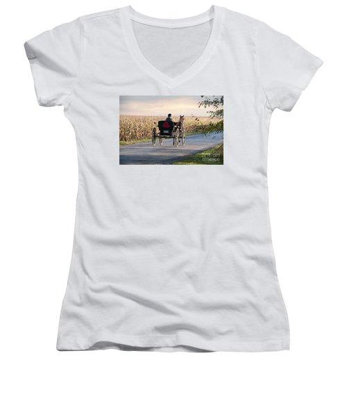 Open Road Open Buggy Women's V-Neck T-Shirt