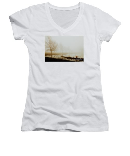 Women's V-Neck T-Shirt (Junior Cut) featuring the photograph Open Space by Iris Greenwell