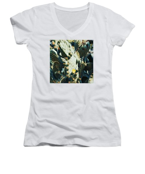 Opuntia Ficus Women's V-Neck (Athletic Fit)