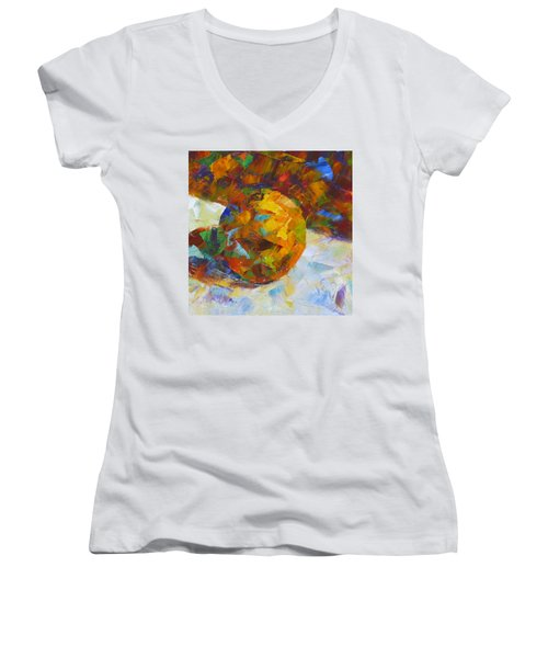 Orange Flash Women's V-Neck T-Shirt