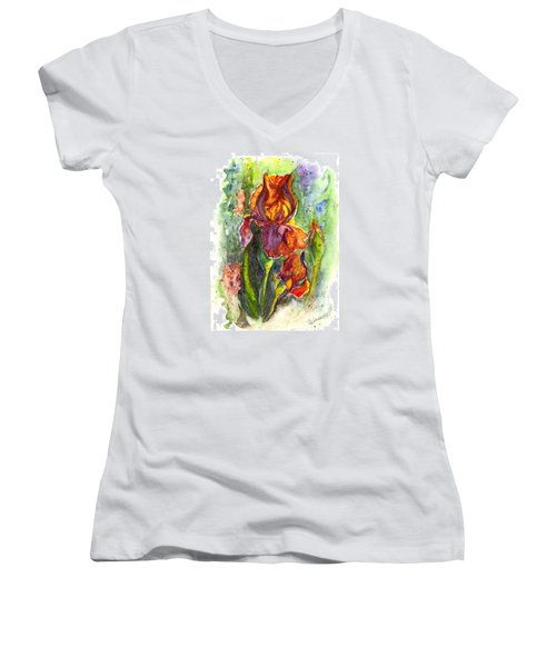Orange Ice Women's V-Neck T-Shirt