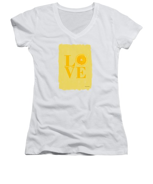 Orange Women's V-Neck (Athletic Fit)