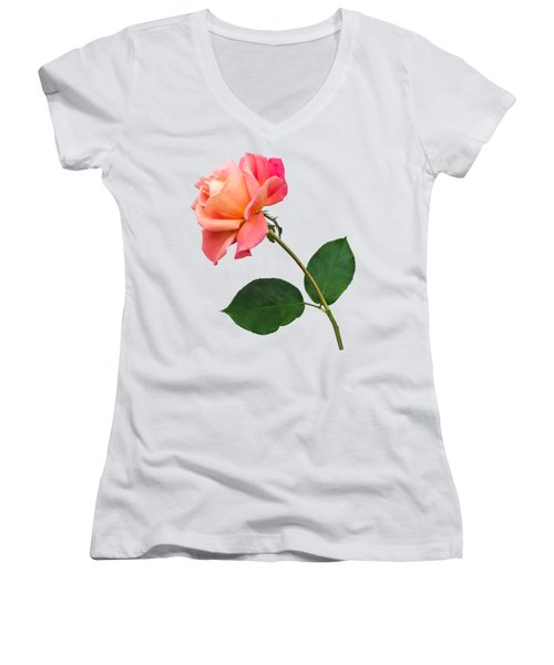 Orange Rose Specimen Women's V-Neck (Athletic Fit)