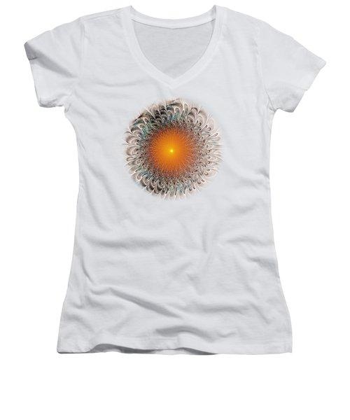 Orange Zone Women's V-Neck T-Shirt (Junior Cut) by Anastasiya Malakhova